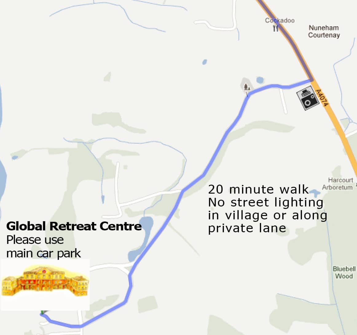 directions to global retreat centre from nuneham pic